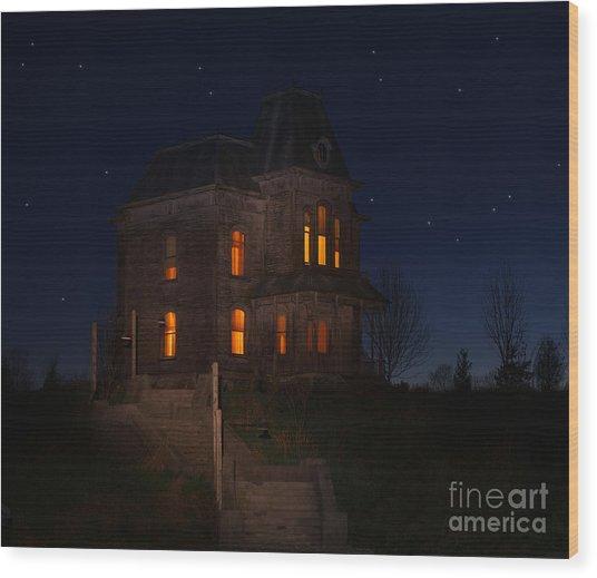 Psycho House-bates Motel Wood Print