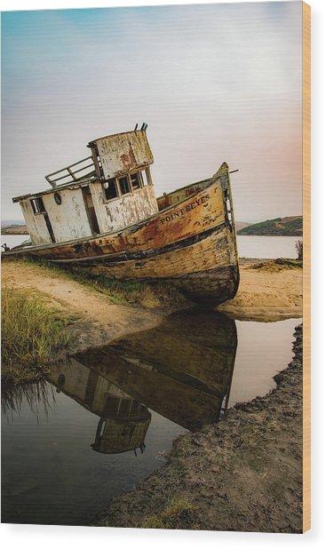 Pt. Reyes Shipwreck 1 Wood Print