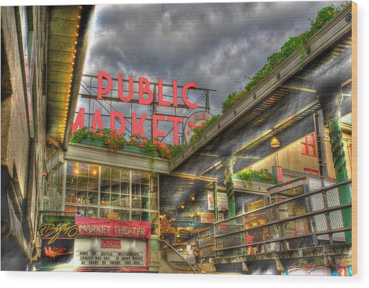 Public Market Wood Print