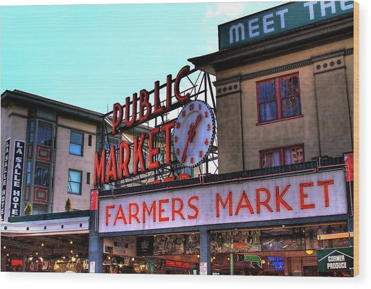 Public Market II Wood Print