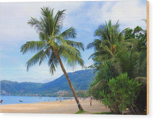Phuket Patong Beach Wood Print