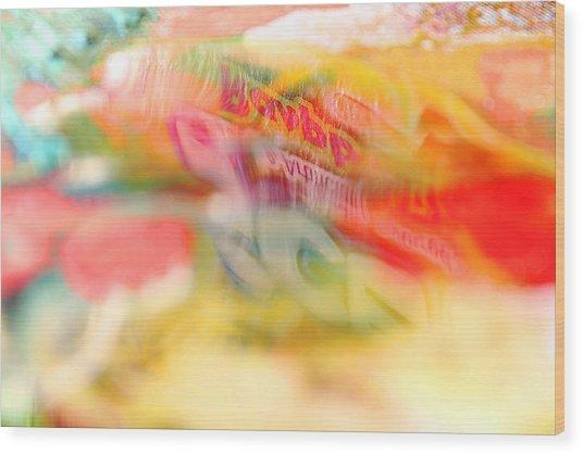 Puddle Reflection Wood Print