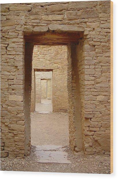 Pueblo Bonito Doors Wood Print by Christina Solstad