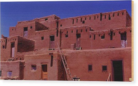 Pueblo Living Wood Print