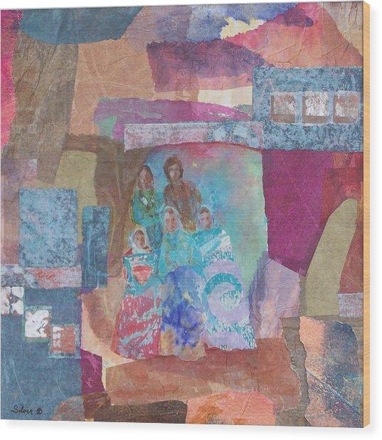 Pueblo Women At The Dance Wood Print