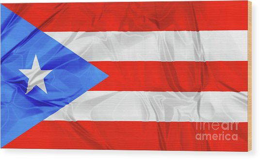 Puerto Rico Flag Wood Print