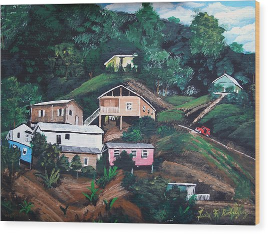 Puerto Rico Mountain View Wood Print