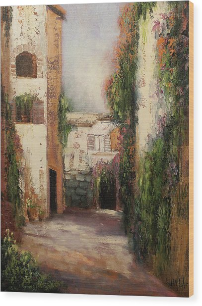 Puerto Vallarta Wood Print by Sally Seago