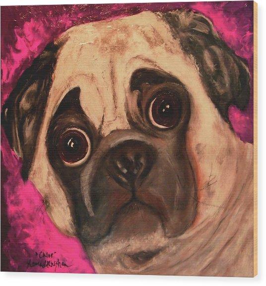 Pug - Chloe Wood Print