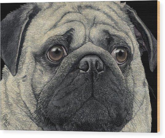 Pugshot Wood Print
