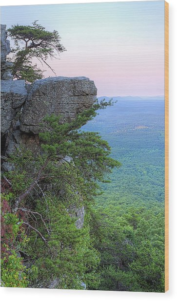 Pulpit Rock Mt Cheaha Wood Print by JC Findley