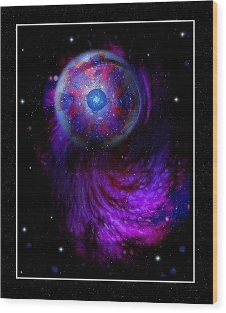Pulsar At The Edge Of Space Wood Print