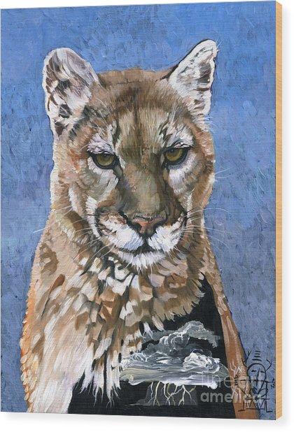 Puma - The Hunter Wood Print