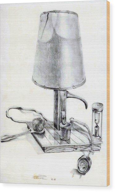 Pump Lamp Wood Print
