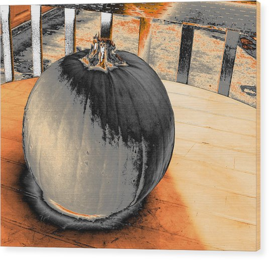 Pumpkin #2 Wood Print