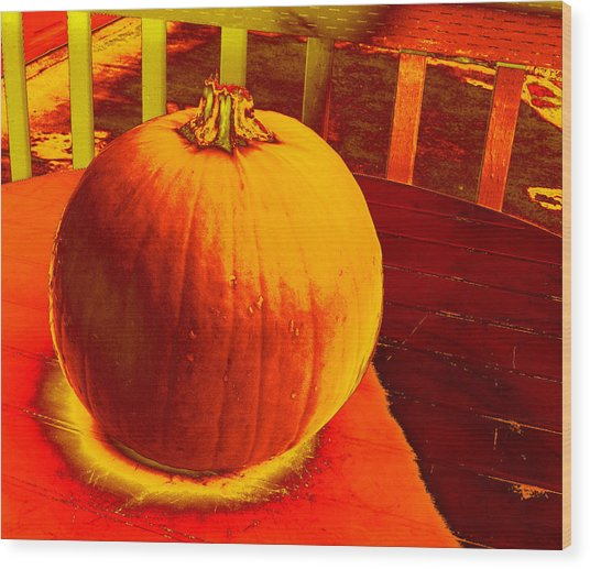 Pumpkin #4 Wood Print