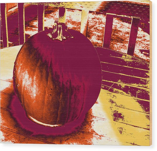 Pumpkin #5 Wood Print