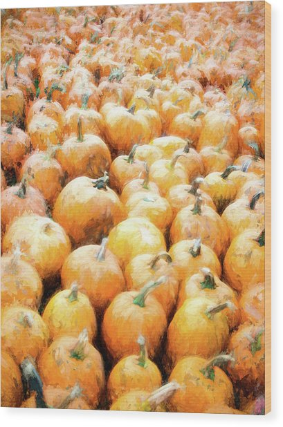 Wood Print featuring the photograph Pumpkin Collection by Whitney Leigh Carlson