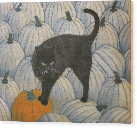 Pumpkin Keeper Wood Print