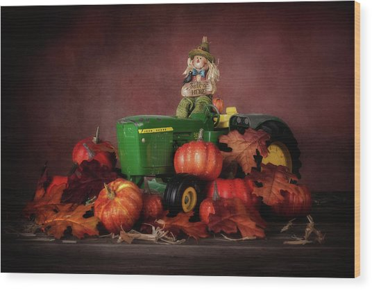 Pumpkin Patch Whimsy Wood Print