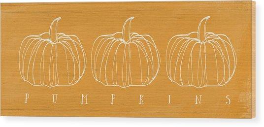 Pumpkins- Art By Linda Woods Wood Print