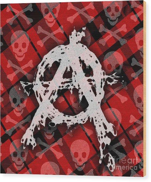 Punk Anarchy Wood Print