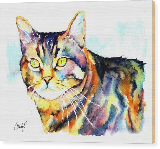 Punky Kitty  Wood Print