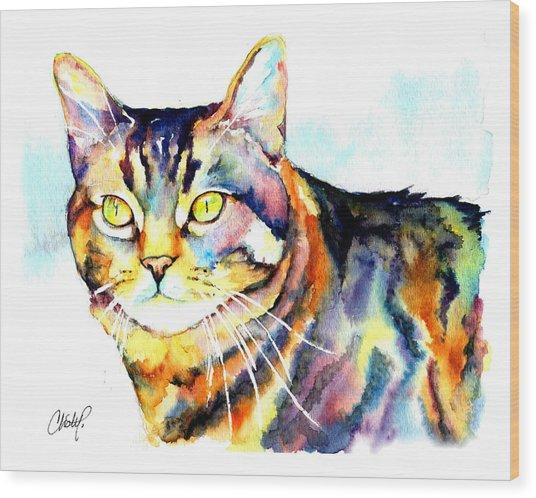 Punky Kitty  Wood Print
