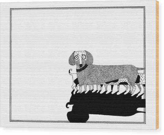 Puppies Wood Print by Anastassia Neislotova