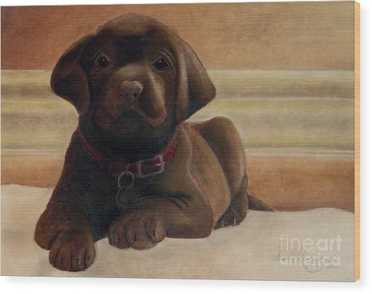 Puppy Love Wood Print by Susan Clausen