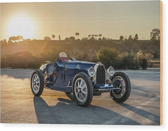 Pur Sang Bugatti Type 35 Wood Print by Drew Phillips