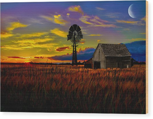 Pure Country Wood Print