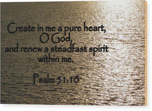 Pure Heart Wood Print