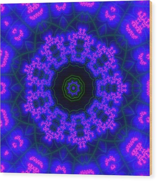 Purple 9 Lightmandala Wood Print