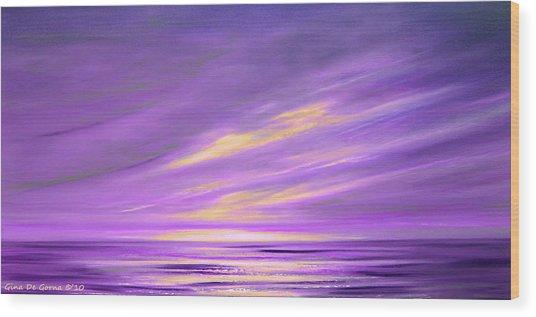 Purple Abstract Sunset Wood Print
