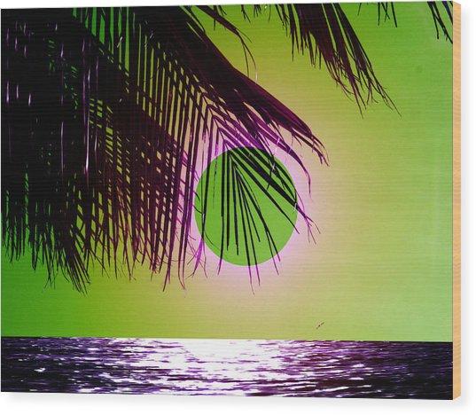 Purple Beach Wood Print by Juana Maria Garcia-Domenech