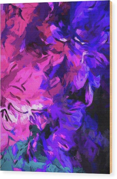 Purple Behind Pink Wood Print