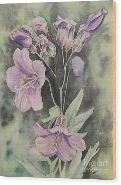 Purple Delight Wildflowers Wood Print