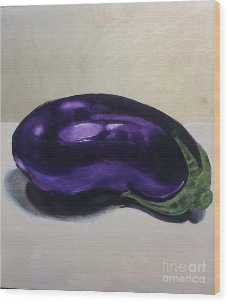 Purple Eggplant Wood Print