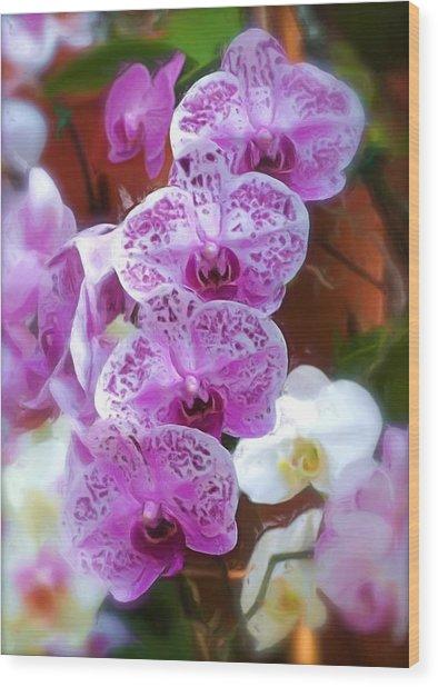 Purple Flower Wood Print by Ralph Liebstein