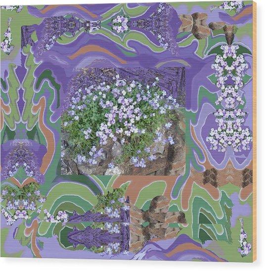 Purple Flower Textured Photo 1028d Wood Print