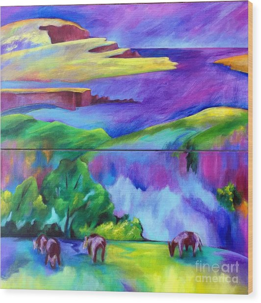 Purple Graze Wood Print