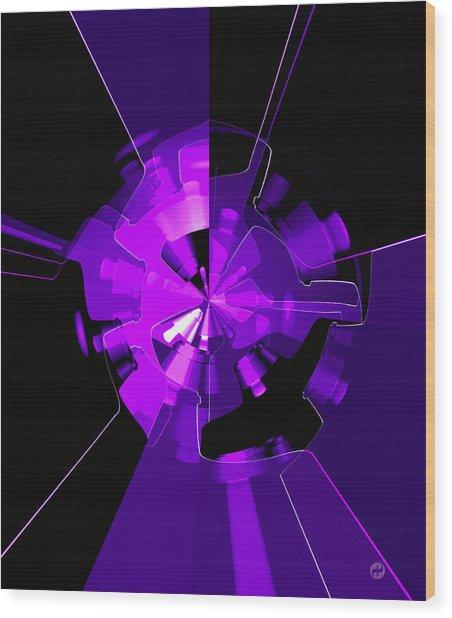 Purple Haze Wheels Wood Print