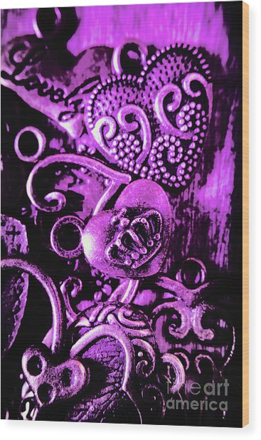 Purple Heart Collection Wood Print