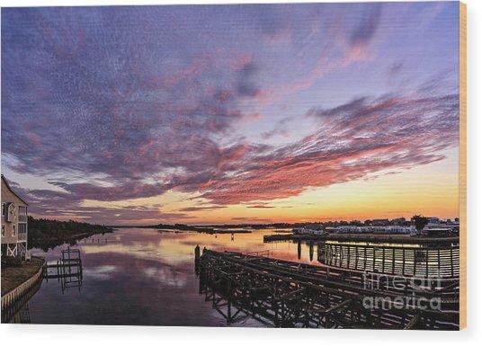 Purple Icw Wood Print