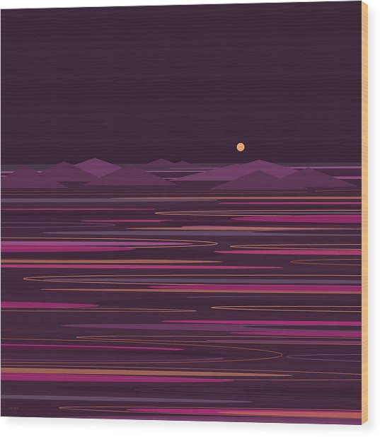 Purple Isles Wood Print