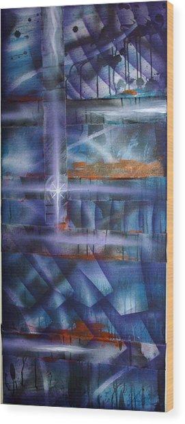 Purple Wood Print by Leigh Odom