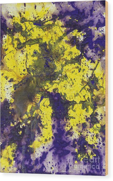 Purple Married Yellow Wood Print