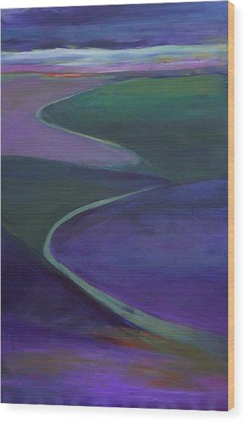 Purple Moor Wood Print