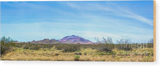 Purple Mountain Panoramic Wood Print